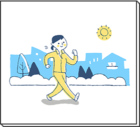 運動療法のイラスト